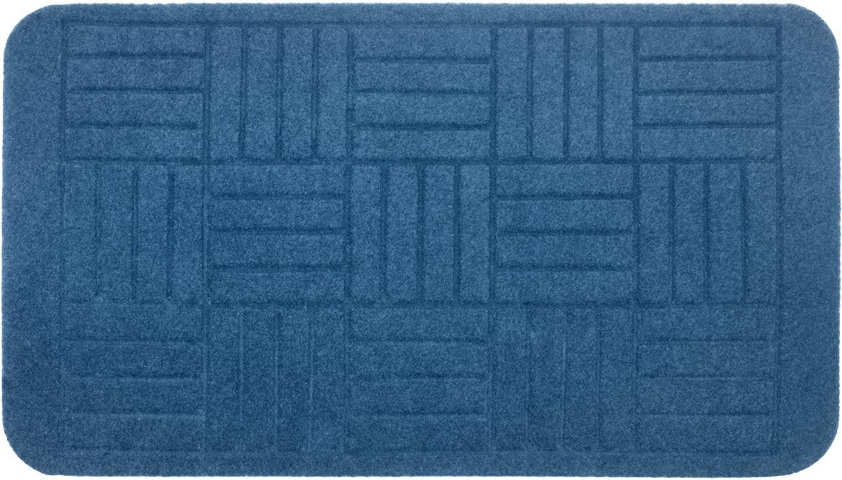 Коврик придверный EFCO Оскар. Паркет, цвет: голубой, 70 х 40 см531-103Оригинальный придверный коврик EFCO Оскар. Паркет надежно защитит помещение от уличной пыли и грязи. Изделие выполнено из 100% полипропилена, основа - латекс. Такой коврик сохранит привлекательный внешний вид на долгое время, а благодаря латексной основе, он легко чистится и моется.