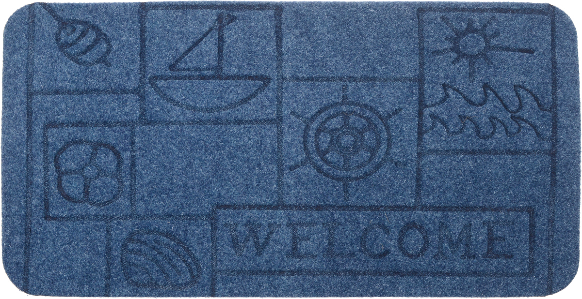 Коврик придверный EFCO Оскар. Кораблик, цвет: голубой, 70 х 40 см74-0120Оригинальный придверный коврик EFCO Оскар. Кораблик надежно защитит помещение от уличной пыли и грязи. Изделие выполнено из 100% полипропилена, основа - латекс. Такой коврик сохранит привлекательный внешний вид на долгое время, а благодаря латексной основе, он легко чистится и моется.