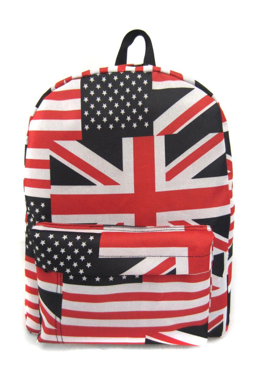 Рюкзак молодежный Creative American Flag, цвет: мультиколор, 16 лGL-BC875Рюкзак молодежный Creative American Flag - лаконичная и очень удобная модель, в которую поместится все: школьные принадлежности и завтрак, спортивная форма, любимые игрушки, ноутбук. Подвесная система позволяет регулировать лямки и тем самым адаптировать изделие под рост владельца. Мягкие лямки обеспечат комфорт даже при длительном ношении рюкзака. Внутреннее пространство рюкзака вместит всё необходимое. Благодаря текстильной ручке рюкзак можно повесить. Выполнен рюкзак из влагостойкой ткани. Это рюкзак универсален именно благодаря удобному и простому крою.