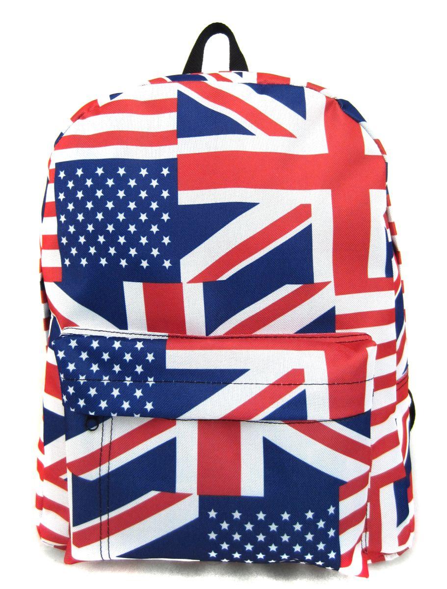 Рюкзак молодежный Creative British Flag, цвет: мультиколор, 16 лGL-BC876Рюкзак молодежный Creative British Flag - лаконичная и очень удобная модель, в которую поместится все: школьные принадлежности и завтрак, спортивная форма, любимые игрушки, ноутбук. Подвесная система позволяет регулировать лямки и тем самым адаптировать изделие под рост владельца. Мягкие лямки обеспечат комфорт даже при длительном ношении рюкзака. Внутреннее пространство рюкзака вместит всё необходимое. Благодаря текстильной ручке рюкзак можно повесить. Выполнен рюкзак из влагостойкой ткани. Это рюкзак универсален именно благодаря удобному и простому крою.