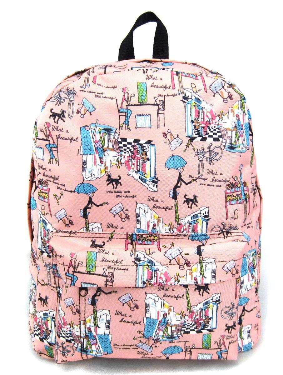 Рюкзак молодежный Creative Модница, цвет: розовый, 16 л95940-905Рюкзак молодежный Creative Модница - лаконичная и очень удобная модель, в которую поместится все: школьные принадлежности и завтрак, спортивная форма, любимые игрушки, ноутбук. Подвесная система позволяет регулировать лямки и тем самым адаптировать изделие под рост владельца. Мягкие лямки обеспечат комфорт даже при длительном ношении рюкзака. Внутреннее пространство рюкзака вместит всё необходимое. Благодаря текстильной ручке рюкзак можно повесить. Выполнен рюкзак из влагостойкой ткани. Это рюкзак универсален именно благодаря удобному и простому крою.