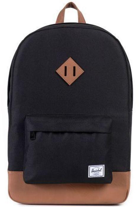 Рюкзак городской Herschel Heritage, цвет: черный, коричневый, 21,5 л1125040Рюкзак Herschel Heritage - это функциональный класический дизайн с особым вниманием к деталям.