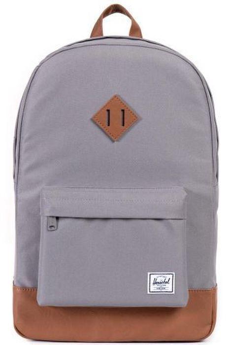 Рюкзак городской Herschel Heritage, цвет: серый, коричневый, 21,5 лГризлиРюкзак Herschel Heritage - это функциональный класический дизайн с особым вниманием к деталям.