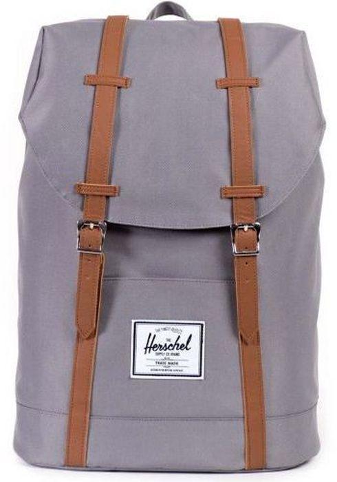 Рюкзак городской Herschel Retreat, цвет: серый, коричневый, 19,5 л7292Рюкзак Herschel Retreat - класический дизайн, функциональный и вместительный, урезанная копия модели Little America