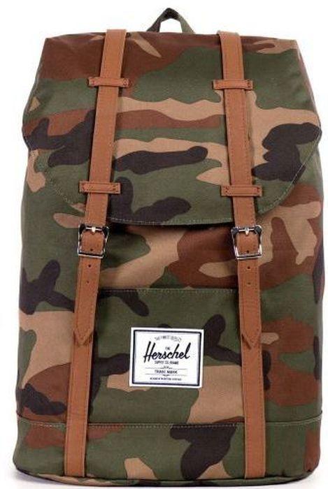 Рюкзак городской Herschel  Retreat Woodland Camo Tan , 19,5 л - Рюкзаки