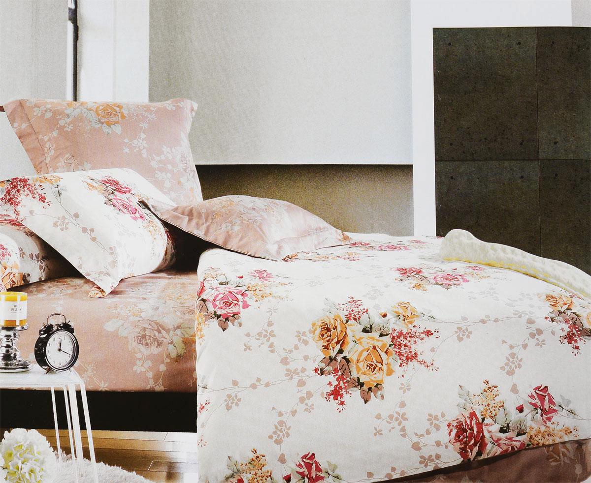 Комплект белья Tiffanys Secret Вальс цветов, евро, наволочки 50х70, цвет: бежевый, розовый, серый198854Комплект постельного белья Tiffanys Secret Вальс цветов является экологически безопасным для всей семьи, так как выполнен из сатина (100% хлопок). Комплект состоит из пододеяльника, простыни и двух наволочек. Предметы комплекта оформлены оригинальным рисунком.Благодаря такому комплекту постельного белья вы сможете создать атмосферу уюта и комфорта в вашей спальне.Сатин - это ткань, навсегда покорившая сердца человечества. Ценившие роскошь персы называли ее атлас, а искушенные в прекрасном французы - сатин. Секрет высококачественного сатина в безупречности всего технологического процесса. Эту благородную ткань делают только из отборной натуральной пряжи, которую получают из самого лучшего тонковолокнистого хлопка. Благодаря использованию самой тонкой хлопковой нити получается необычайно мягкое и нежное полотно. Сатиновое постельное белье превращает жаркие летние ночи в прохладные и освежающие, а холодные зимние - в теплые и согревающие. Сатин очень приятен на ощупь, постельное белье из него долговечно, выдерживает более 300 стирок, и лишь спустя долгое время материал начинает немного тускнеть. Оцените все достоинства постельного белья из сатина, выбирая самое лучшее для себя!