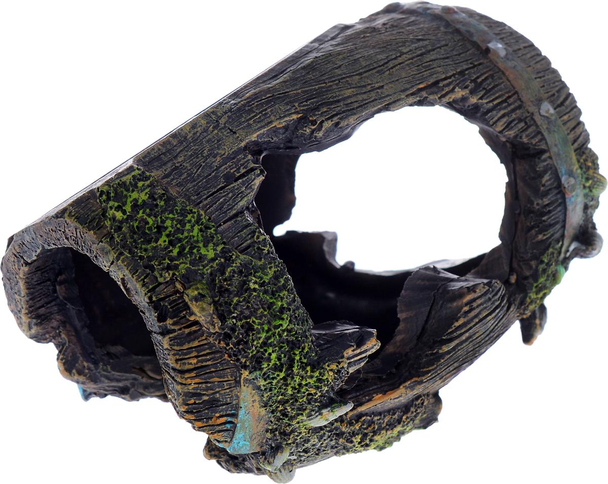 Декорация для аквариума Barbus Бочка, 12 х 8,5 х 9 см скребок для аквариума хаген складной