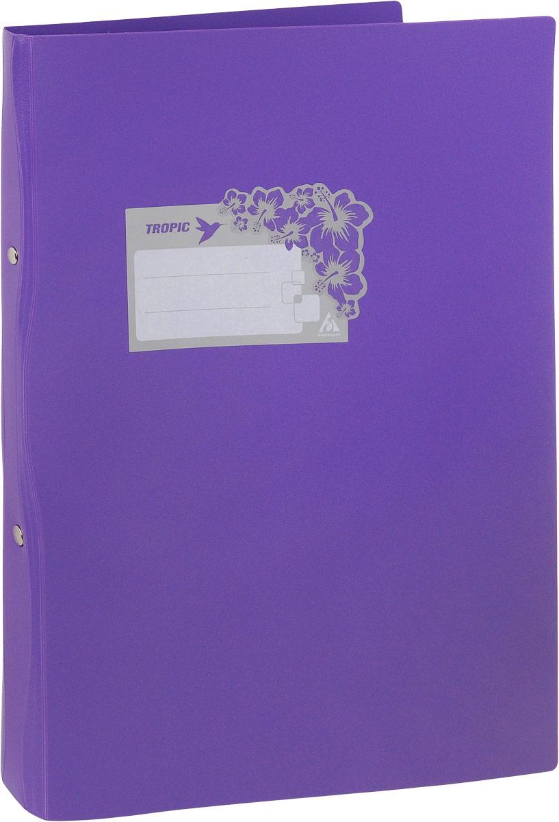 Бюрократ Папка-скоросшиватель Tropic формат А4 цвет фиолетовыйAC-1121RDПапка Бюрократ Tropic формата А4 идеально подходит для подшивки бумаг в архивные папки с помощью металлического скоросшивателя. Папка изготовлена из прочного высококачественного пластика. С такой папкой все ваши документы будут в полной сохранности.