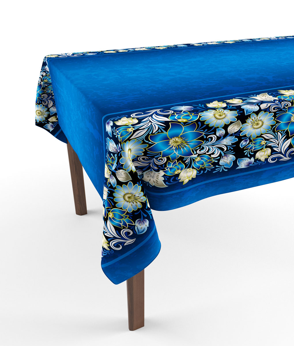 Скатерть Сирень Синие цветы, прямоугольная, 145 x 120 см1010816735Прямоугольная скатерть Сирень Синие цветы с ярким и объемным рисунком, выполненная из габардина, преобразит вашу кухню, визуально расширит пространство, создаст атмосферу радости и комфорта. Рекомендации по уходу: стирка при 30 градусах, гладить при температуре до 110 градусов.Размер скатерти: 145 х 120 см. Изображение может немного отличаться от реального.