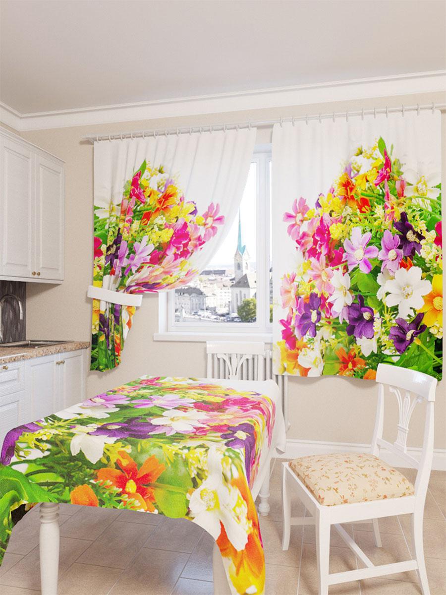 Скатерть Сирень Весенние полевые цветы, прямоугольная, 145 x 120 смVT-1520(SR)Прямоугольная скатерть Сирень Весенние полевые цветы с ярким и объемным рисунком, выполненная из габардина, преобразит вашу кухню, визуально расширит пространство, создаст атмосферу радости и комфорта. Рекомендации по уходу: стирка при 30 градусах, гладить при температуре до 110 градусов.Размер скатерти: 145 х 120 см. Изображение может немного отличаться от реального.