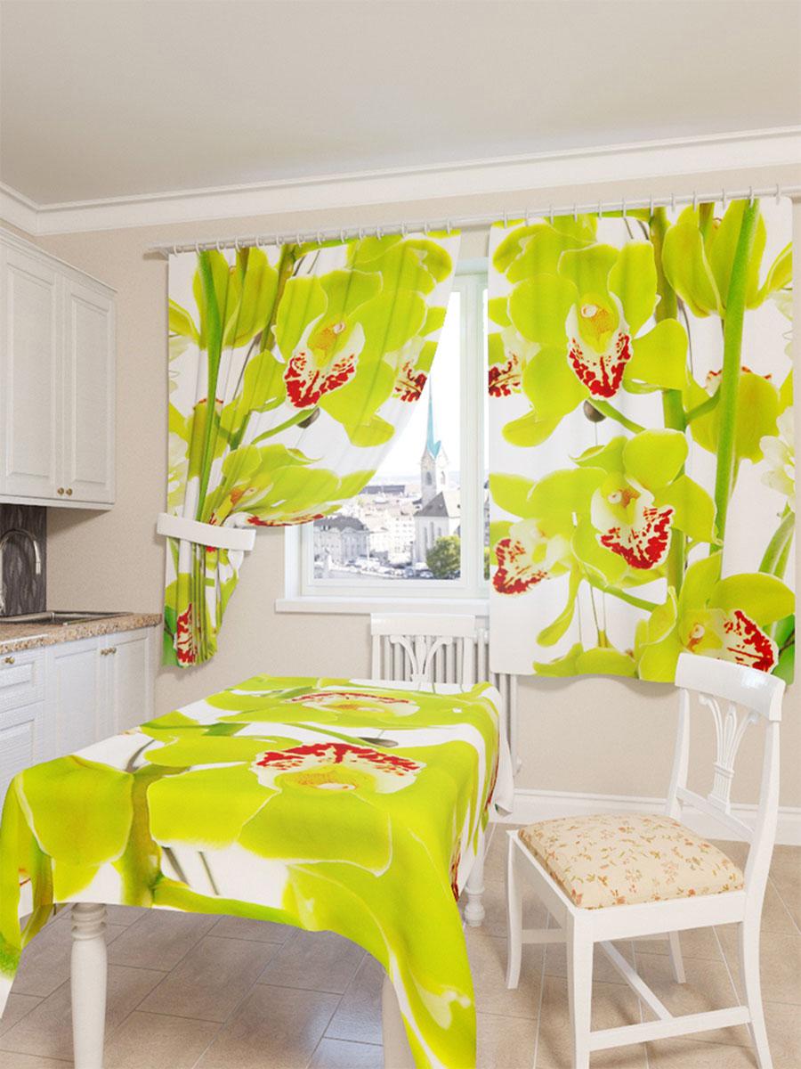 Скатерть Сирень Зеленая орхидея, прямоугольная, 145 x 120 смS03301004Прямоугольная скатерть Сирень Зеленая орхидея с ярким и объемным рисунком, выполненная из габардина, преобразит вашу кухню, визуально расширит пространство, создаст атмосферу радости и комфорта. Рекомендации по уходу: стирка при 30 градусах, гладить при температуре до 110 градусов.Размер скатерти: 145 х 120 см. Изображение может немного отличаться от реального.