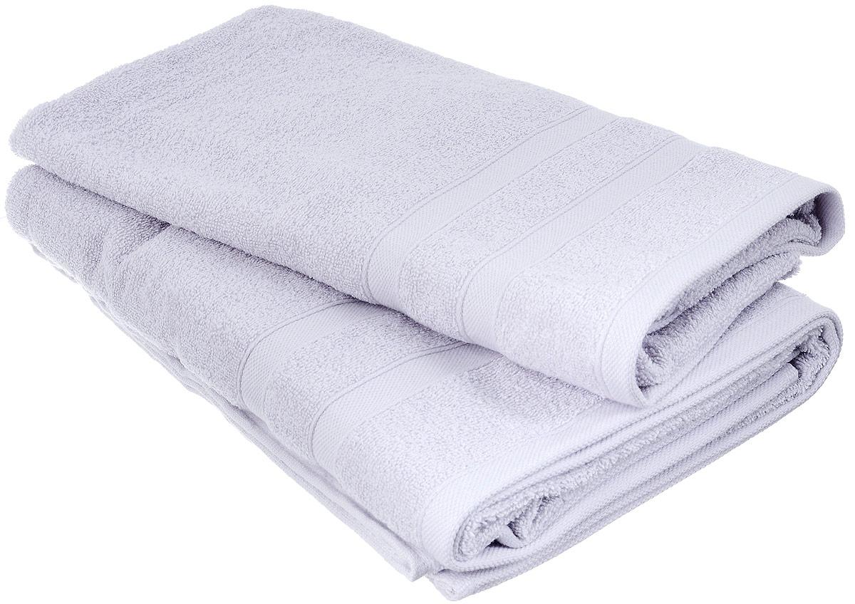 Набор хлопковых полотенец Home Textile, цвет: светло-серый, 2 шт68/5/3Набор Home Textile состоит из двух полотенец разного размера, выполненных из качественной натуральной махры (100% хлопок). Полотенца имеют гладкую, приятную на ощупь текстуру, край украшен классическим двойным бордюром. Мягкие и уютные, они прекрасно впитывают влагу и легко стираются. Кроме того, хлопковые полотенца отличаются высокой износоустойчивостью и долгим сроком службы. Такой набор полотенец подарит массу положительных эмоций и приятных ощущений.