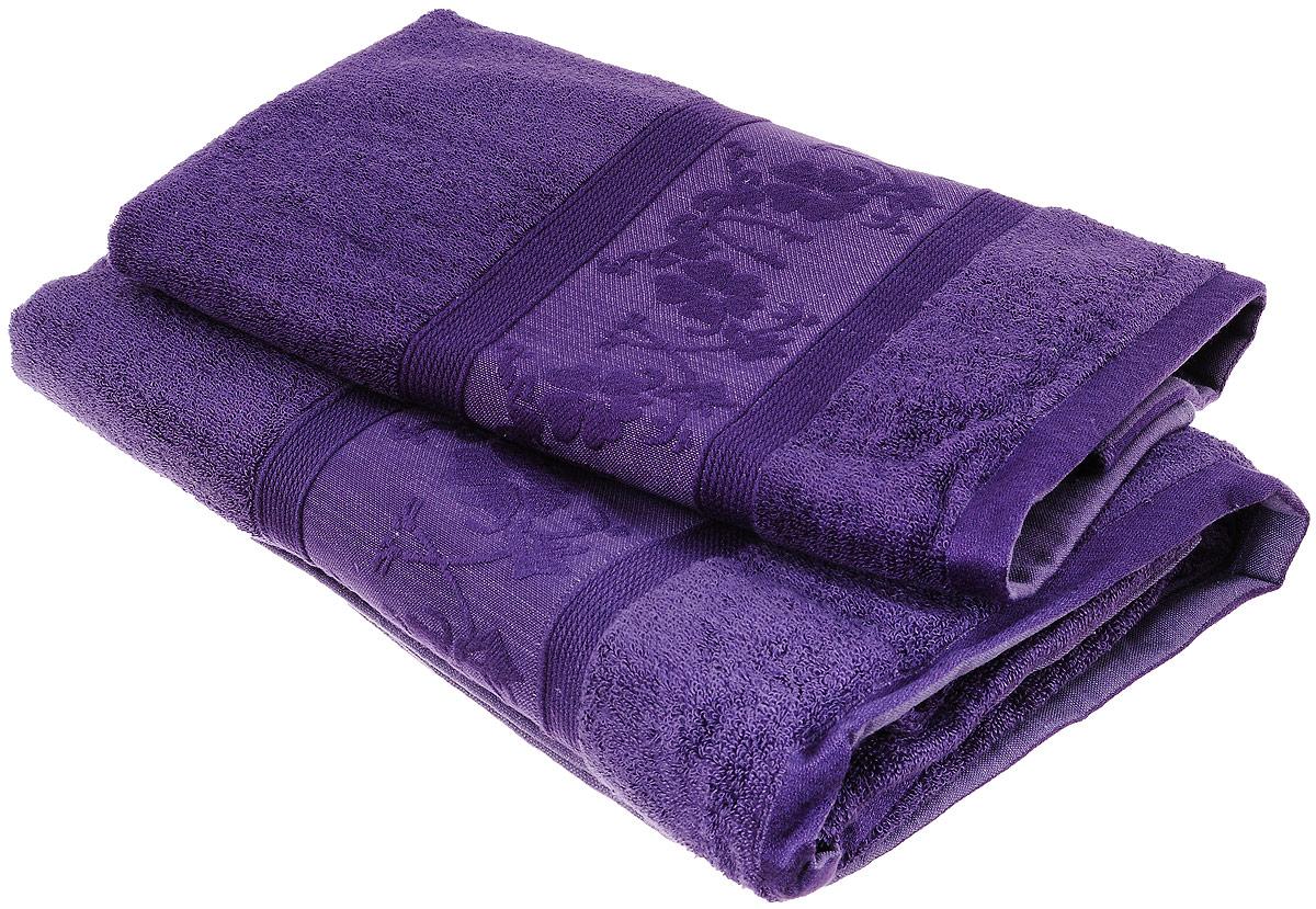 Набор бамбуковых полотенец Home Textile Цветы, цвет: фиолетовый, 2 штCLP446Набор Home Textile Цветы состоит из двух полотенец разного размера, выполненных из бамбука с добавлением хлопка (70% бамбук, 30% хлопок). Полотенца имеют гладкую, шелковистую, приятную на ощупь текстуру, бордюры декорированы вышивкой с цветочным узором. Мягкие и уютные, они прекрасно впитывают влагу, легко стираются и быстро сохнут. Кроме того, бамбуковые полотенца отличаются высокой износоустойчивостью и долгим сроком службы, а также обладают антибактериальными свойствами. Такой набор полотенец подарит массу положительных эмоций и приятных ощущений.