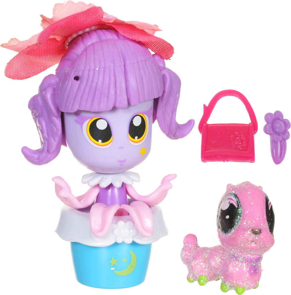 Daisy Мини-кукла Цветочек с питомцем цвет розовый сиреневый