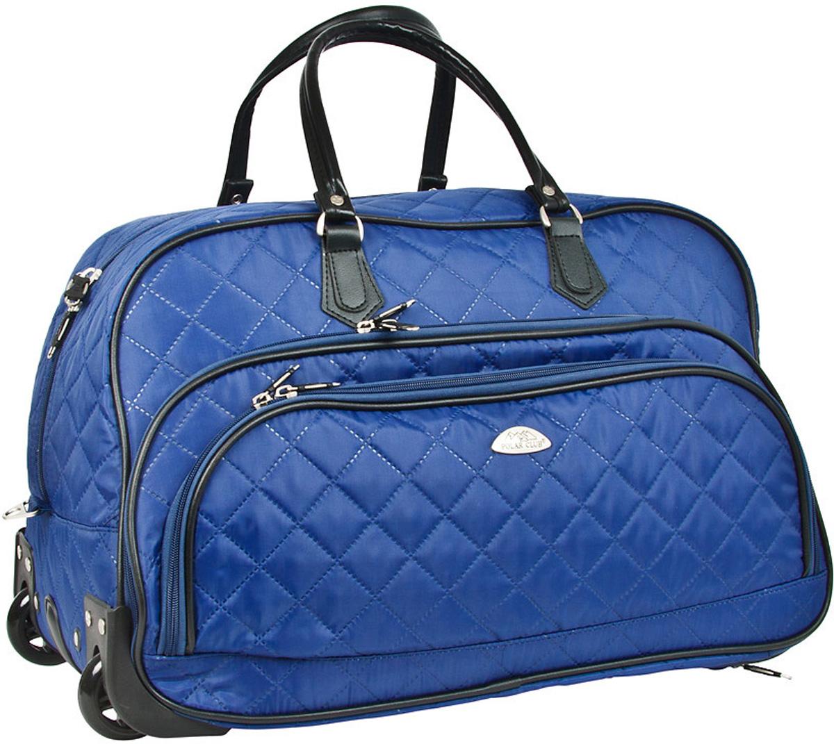 Сумка дорожная Polar Стежка, на колесах, цвет: синий, 51 л. 7050.1 сумка дорожная polar цвет бордовый 46 5 л 7049 2