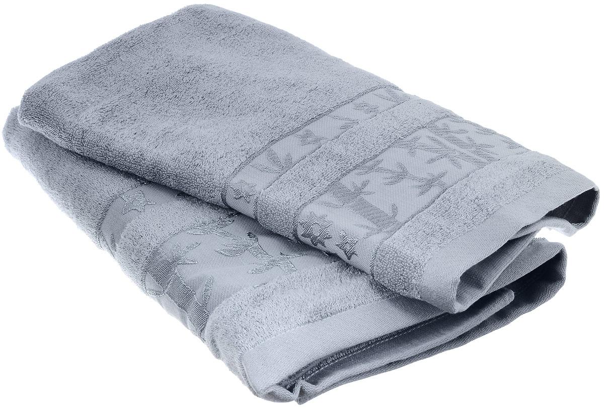Набор бамбуковых полотенец Home Textile Бамбук, цвет: светло-серый, 2 шт1004900000360Набор Home Textile Бамбук состоит из двух полотенец разного размера, выполненных из бамбука с добавлением хлопка (70% бамбук, 30% хлопок). Полотенца имеют гладкую, приятную на ощупь текстуру, бордюры декорированы вышивкой в виде стеблей бамбука. Мягкие и уютные, они прекрасно впитывают влагу, легко стираются и быстро сохнут. Кроме того, бамбуковые полотенца отличаются высокой износоустойчивостью и долгим сроком службы, а также обладают антибактериальными свойствами. Такой набор полотенец подарит массу положительных эмоций и приятных ощущений.