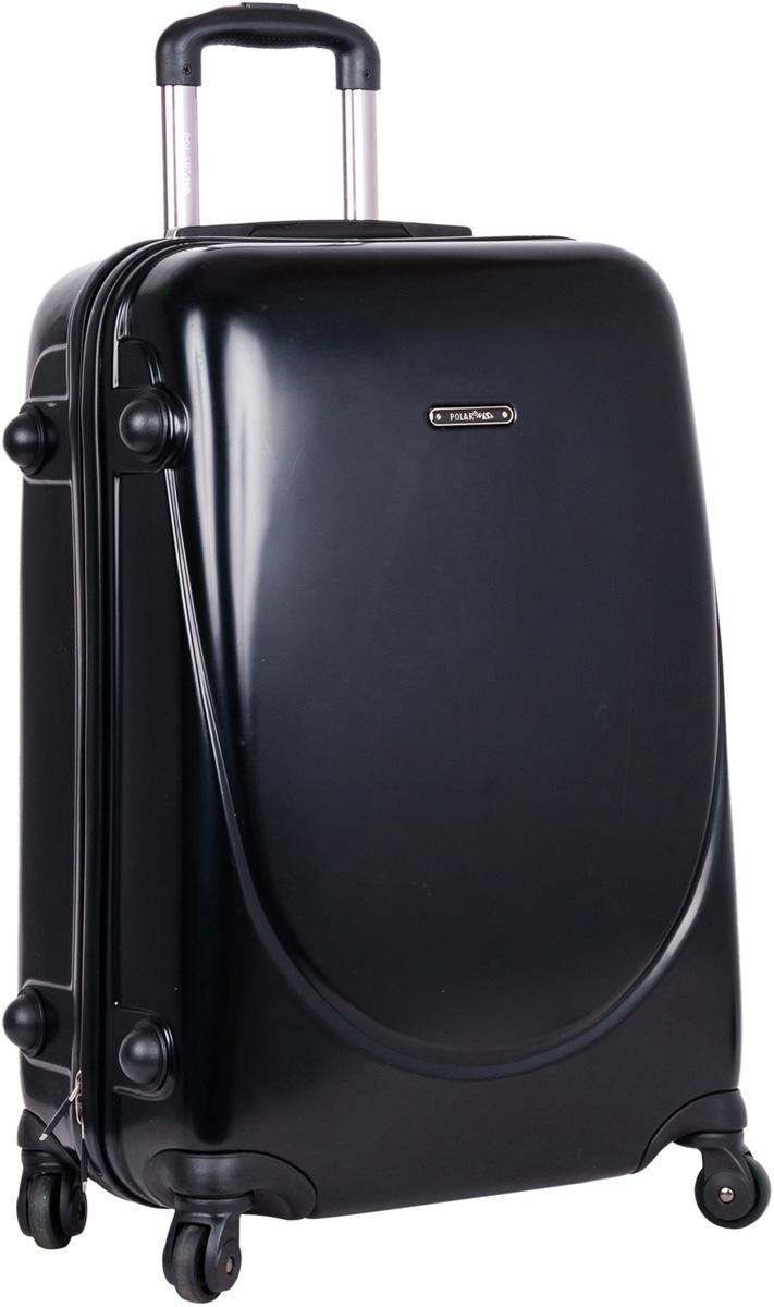 Чемодан пластиковый Polar, цвет: черный, 35,5 л, 32 х 48 х 23 см. Р1053(20)31318103Суперлегкий пластиковый чемодан Спиннер Polar. Материал ABS- пластик максимально устойчив к деформации. Кроме того, он обладает повышенной гибкостью, что позволяет материалу не ломаться и не трескаться при внешних нагрузках. Наши чемоданы отлично подходят для перевозки хрупких вещей. Пластик отлично защищает внутреннее содержание от любых внешних воздействий.Еще один принципиальный момент- это количество колес. Чемодан с четырьмя колесами на основании. Он более маневренный и удобный в обращении по отношению к двухколесным чемоданам. Можно просто выдвинуть ручку и катить его рядом с собой в любом направлении, при этом не будет никакой нагрузки на кисть, что очень важно, если чемодан у вас большой и тяжелый.Выдвижная ручка (выдвигается в два сложения на 50 см.), внутренняя тележка. Внутри: портплед, карман из сетки на молнии, фиксатор с зажимом для ваших вещей. Дополнительный карман для вещей ,закрывается на молнии. 4 колеса вращаются на 360 градусов. Также предусмотрен кодовый замок.