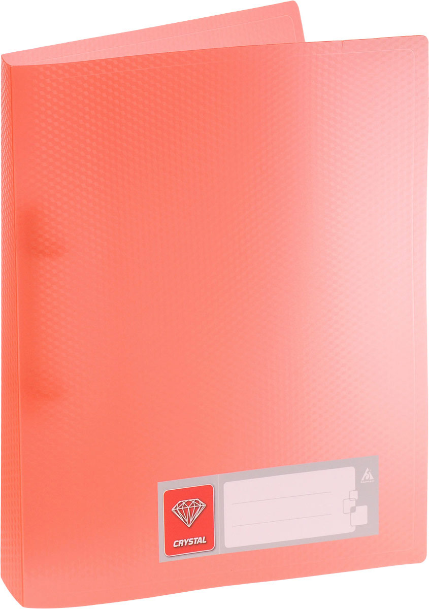 Бюрократ Папка на 2-х кольцах Crystal формат А4 цвет оранжевый80019_розовыйПапка на кольцах Бюрократ Crystal - это удобный и функциональный офисный инструмент, предназначенный для хранения и транспортировки рабочих бумаг и документов формата А4.Папка оснащена двумя металлическими кольцами, что позволяет закреплять перфорированные документы. Углы папки закруглены, чтобы надолго обеспечить опрятный вид папки. Папка - это незаменимый атрибут для любого студента, школьника или офисного работника. Такая папка надежно сохранит ваши бумаги и сбережет их от повреждений, пыли и влаги.