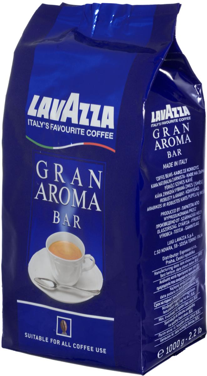 Lavazza Gran Aroma кофе в зернах, 1 кг0120710Арабика Центральной и Южной Америки в сочетании со смесью Робусты из Индонезии и Африки обеспечивают неповторимый вкус и пенку настоящего итальянского эспрессо. Средняя обжарка зерен кофе Lavazza Gran Aroma придаёт характерный вкус этому напитку и устойчивое послевкусие.