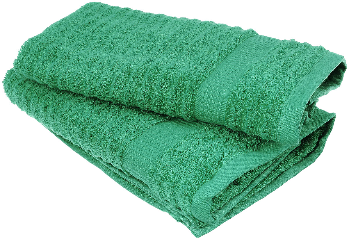 Набор хлопковых полотенец Home Textile, цвет: зеленый, 2 штRC-100BWCНабор Home Textile состоит из двух полотенец разного размера, выполненных из качественной натуральной махры (100% хлопок). Полотенца имеют ворс различной длины, что создает рельефную текстуру, и классический бордюр. Мягкие и уютные, они прекрасно впитывают влагу и легко стираются. Кроме того, хлопковые полотенца отличаются высокой износоустойчивостью и долгим сроком службы. Такой набор полотенец подарит массу положительных эмоций и приятных ощущений.
