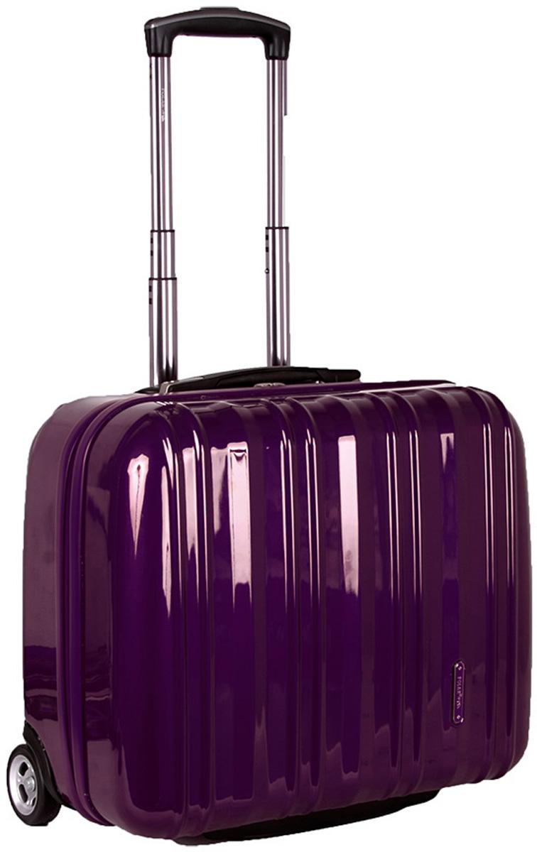 Чемодан Polar, цвет: фиолетовый, 40,5 л. Р1132(16)ГризлиВес чемодана имеет большое значение после введения новых правил по авиа перевозке.Пластиковый чемодан Polar весит намного меньше, чем обычные чемоданы из традиционных материалов.Материал ABS-пластик максимально устойчив к деформации. Кроме того, он обладает повышенной гибкостью, что позволяет материалу не ломаться и не трескаться при внешних нагрузках. Чемодан отлично подходит для перевозки хрупких вещей. Пластик отлично защищает внутреннее содержание от любых внешних воздействий.Чемодан оснащен выдвижной ручкой (выдвигается на 60 см) и внутренней тележкой. Внутри расположены фиксаторы-зажимы для ваших вещей. Также предусмотрен кодовый замок. Эта универсальная модель идеально подойдет для краткосрочных командировок и позволит вам взять с собой, помимо ноутбука, еще и все самые необходимые для вас вещи.