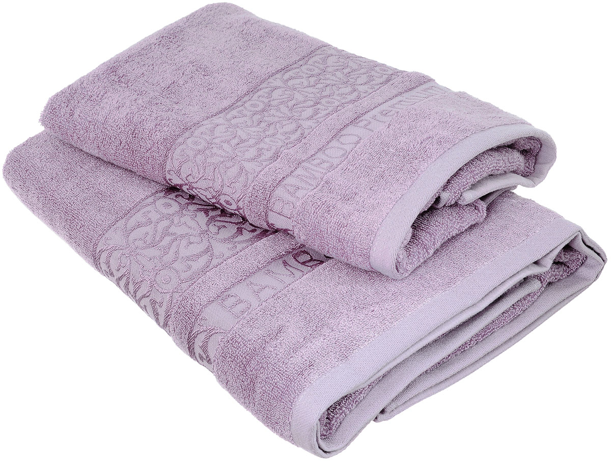Набор бамбуковых полотенец Home Textile Bamboo Premium, цвет: сиреневый, 2 штCLP446Набор Home Textile Bamboo Premium состоит из двух полотенец разного размера, выполненных из бамбука с добавлением хлопка (70% бамбук, 30% хлопок). Полотенца имеют гладкую, приятную на ощупь текстуру, края декорированы бордюрами с изысканным узором. Мягкие и уютные, они прекрасно впитывают влагу, легко стираются и быстро сохнут. Кроме того, бамбуковые полотенца отличаются высокой износоустойчивостью и долгим сроком службы, а также обладают антибактериальными свойствами. Такой набор полотенец подарит массу положительных эмоций и приятных ощущений.