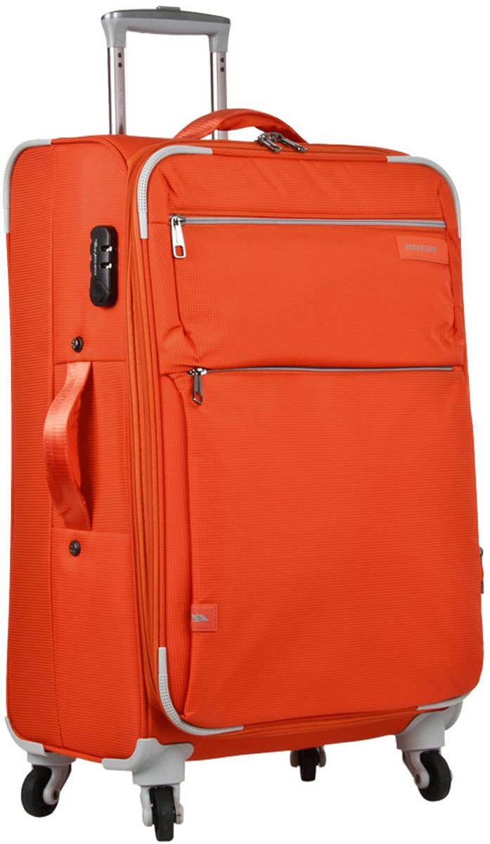 Чемодан Polar, цвет: оранжевый, 88 л. Р1891(28)Р1891(28)Чемодан Polar выполнен из полиэстера. Внутри чемодана имеются фиксирующие ремни и два дополнительных кармана на молнии. Также основное отделение можно увеличить в объеме, расстегнув молнию, при этом чемодан увеличивается в глубину на 5 см. Ручка выдвигается в два сложения на 28 см, расположена внутри корпуса чемодана, что способствует большей прочности и защите от ударов при разгрузке/погрузке чемодана. Снаружи на передней стенке расположены два больших кармана на молнии. Надежные четыре колеса на подшипниках вращаются на 360°. В комплекте идет кодовый замок.