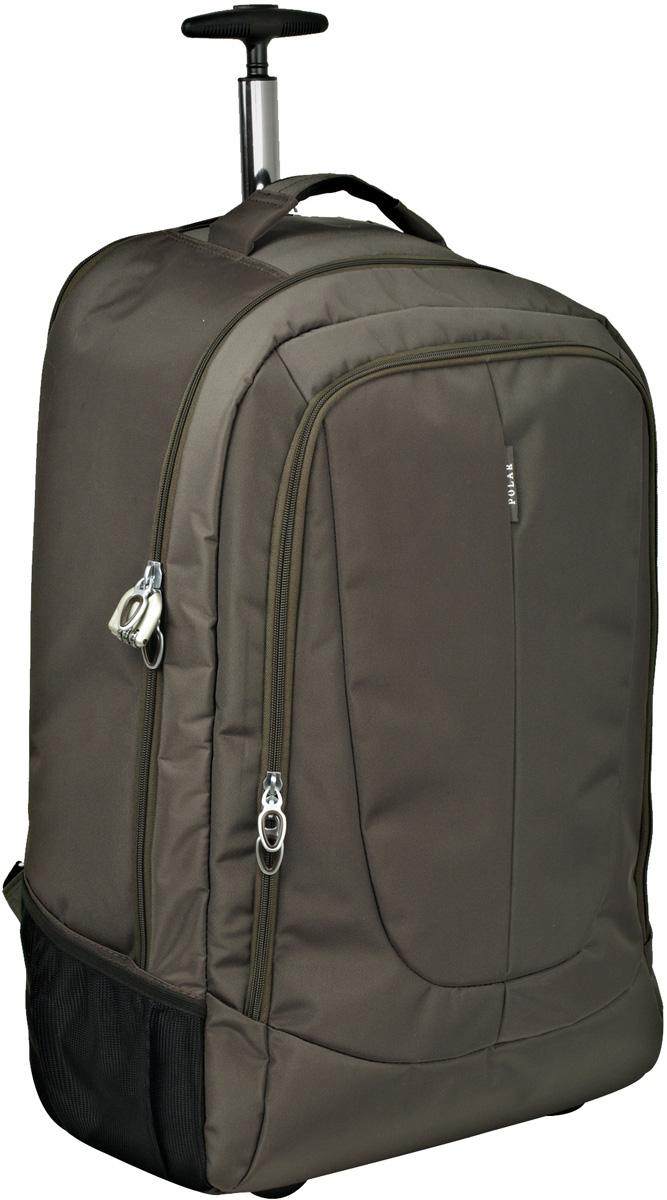 Чемодан-рюкзак Polar, на колесах, цвет: кофейный, 32 л, 35 x 48 x 19см. Р8293(19)Trevira ThermoЧемодан-рюкзак на колесах Polar не имеет каркаса, благодаря чему его можно сложить при хранении. На задней стенке чемодана спрятаны под молнию рюкзачные лямки которые можно достать расстегнув молнию. Внутри: большое отделение с фиксаторами и зажимами для вещей. Выдвигающая ручка складывается и закрывается на молнию. Снаружи - карман на молнии.