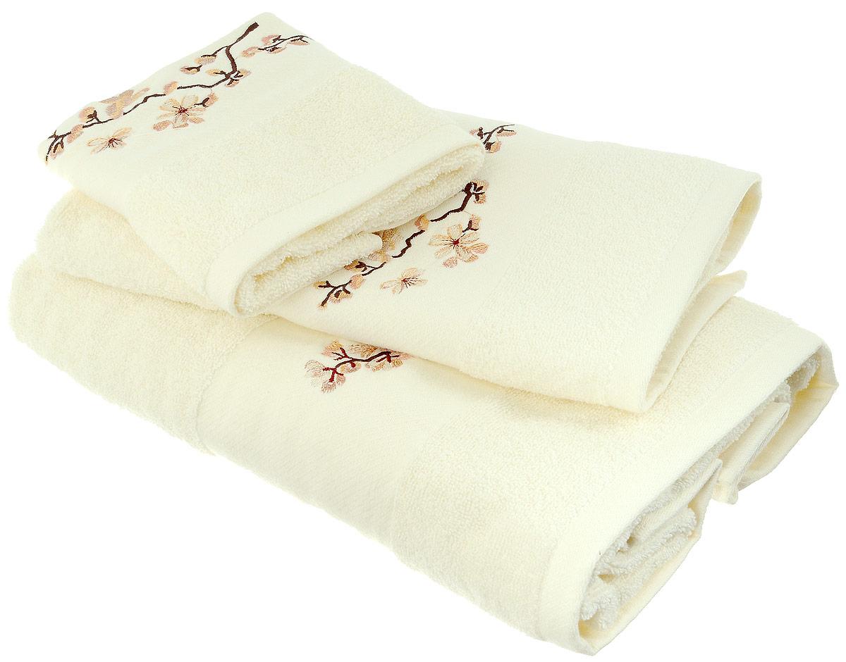 Набор хлопковых полотенец Home Textile, цвет: светло-желтый, коричневый, бежевый, 3 штLX-OZ03Набор Home Textile состоит из трех полотенец разного размера, выполненных из качественной натуральной махры (100% хлопок). Изделия украшены изящной вышивкой. Мягкие и уютные, они прекрасно впитывают влагу и легко стираются. Кроме того, хлопковые полотенца отличаются высокой износоустойчивостью и долгим сроком службы. Такой набор полотенец подарит массу положительных эмоций и приятных ощущений.Размеры полотенец: 30 х 50 см; 50 х 90 см; 70 х 140 см.