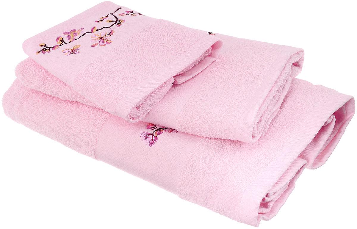 Набор хлопковых полотенец Home Textile, цвет: светло-розовый, желтый, коричневый, 3 шт1004900000360Набор Home Textile состоит из трех полотенец разного размера, выполненных из качественной натуральной махры (100% хлопок). Изделия украшены изящной вышивкой. Мягкие и уютные, они прекрасно впитывают влагу и легко стираются. Кроме того, хлопковые полотенца отличаются высокой износоустойчивостью и долгим сроком службы. Такой набор полотенец подарит массу положительных эмоций и приятных ощущений.