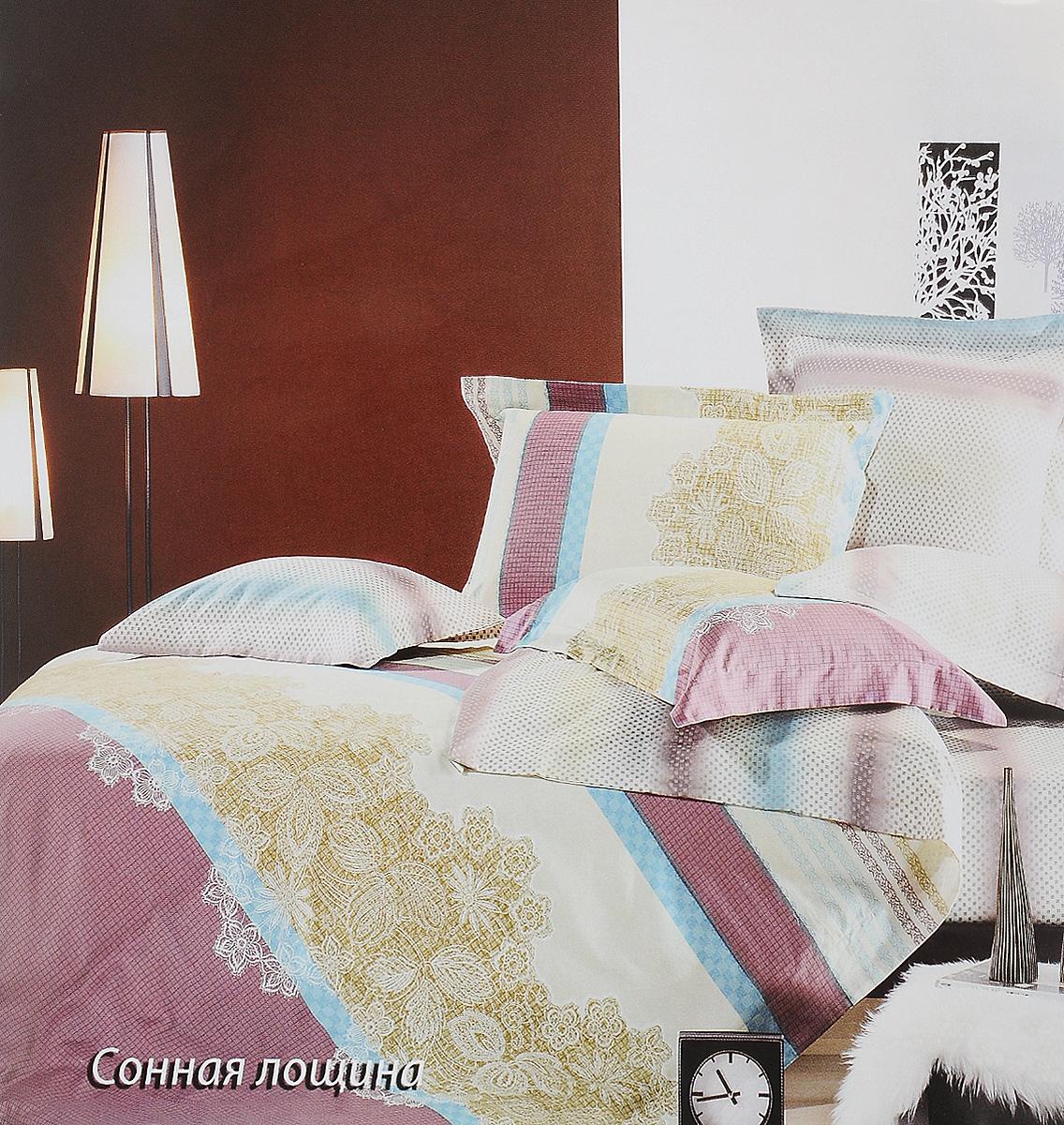 Комплект белья Tiffanys Secret Сонная лощина, 1,5-спальный, наволочки 50х70, цвет: бежевый, сиреневый, голубой391602Комплект постельного белья Tiffanys Secret Сонная лощина является экологически безопасным для всей семьи, так как выполнен из сатина (100% хлопок). Комплект состоит из пододеяльника, простыни и двух наволочек. Предметы комплекта оформлены оригинальным рисунком.Благодаря такому комплекту постельного белья вы сможете создать атмосферу уюта и комфорта в вашей спальне.Сатин - это ткань, навсегда покорившая сердца человечества. Ценившие роскошь персы называли ее атлас, а искушенные в прекрасном французы - сатин. Секрет высококачественного сатина в безупречности всего технологического процесса. Эту благородную ткань делают только из отборной натуральной пряжи, которую получают из самого лучшего тонковолокнистого хлопка. Благодаря использованию самой тонкой хлопковой нити получается необычайно мягкое и нежное полотно. Сатиновое постельное белье превращает жаркие летние ночи в прохладные и освежающие, а холодные зимние - в теплые и согревающие. Сатин очень приятен на ощупь, постельное белье из него долговечно, выдерживает более 300 стирок, и лишь спустя долгое время материал начинает немного тускнеть. Оцените все достоинства постельного белья из сатина, выбирая самое лучшее для себя!