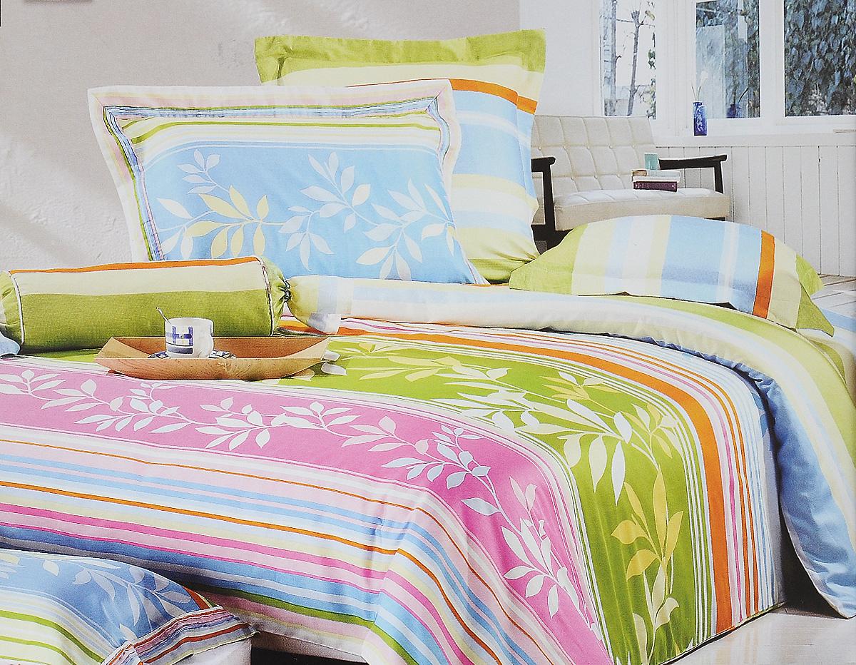 Комплект белья Tiffanys Secret Весна, семейный, наволочки 50х70, цвет: белый, голубой, зеленыйCA-3505Комплект постельного белья Tiffanys Secret Весна является экологически безопасным для всей семьи, так как выполнен из сатина (100% хлопок). Комплект состоит из 2 пододеяльников, простыни и двух наволочек. Предметы комплекта оформлены оригинальным рисунком.Благодаря такому комплекту постельного белья вы сможете создать атмосферу уюта и комфорта в вашей спальне.Сатин - это ткань, навсегда покорившая сердца человечества. Ценившие роскошь персы называли ее атлас, а искушенные в прекрасном французы - сатин. Секрет высококачественного сатина в безупречности всего технологического процесса. Эту благородную ткань делают только из отборной натуральной пряжи, которую получают из самого лучшего тонковолокнистого хлопка. Благодаря использованию самой тонкой хлопковой нити получается необычайно мягкое и нежное полотно. Сатиновое постельное белье превращает жаркие летние ночи в прохладные и освежающие, а холодные зимние - в теплые и согревающие. Сатин очень приятен на ощупь, постельное белье из него долговечно, выдерживает более 300 стирок, и лишь спустя долгое время материал начинает немного тускнеть. Оцените все достоинства постельного белья из сатина, выбирая самое лучшее для себя!