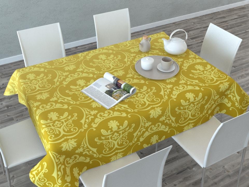 Скатерть Сирень Золотые вензеля, прямоугольная, 145 x 120 смVT-1520(SR)Прямоугольная скатерть Сирень Золотые вензеля с ярким и объемным рисунком, выполненная из габардина, преобразит вашу кухню, визуально расширит пространство, создаст атмосферу радости и комфорта. Рекомендации по уходу: стирка при 30 градусах, гладить при температуре до 110 градусов.Размер скатерти: 145 х 120 см. Изображение может немного отличаться от реального.