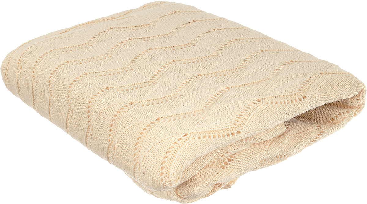 Плед Tiffanys Secret Ажур, цвет: ванильный раф, 140 х 180 смRC-100BWCВязаный плед Tiffanys Secret Ажур послужит теплым, мягким и практичным подарком близким людям. Плед, изготовленный из 30% шерсти и 70% акрила, мягкий, приятный на ощупь, обладает низкой теплопроводностью. Изделие весь срок использования сохраняет размер и достойный вид.Оригинальный и приятный на ощупь плед Tiffanys Secret Ажур непременно займет достойное место в вашем доме.
