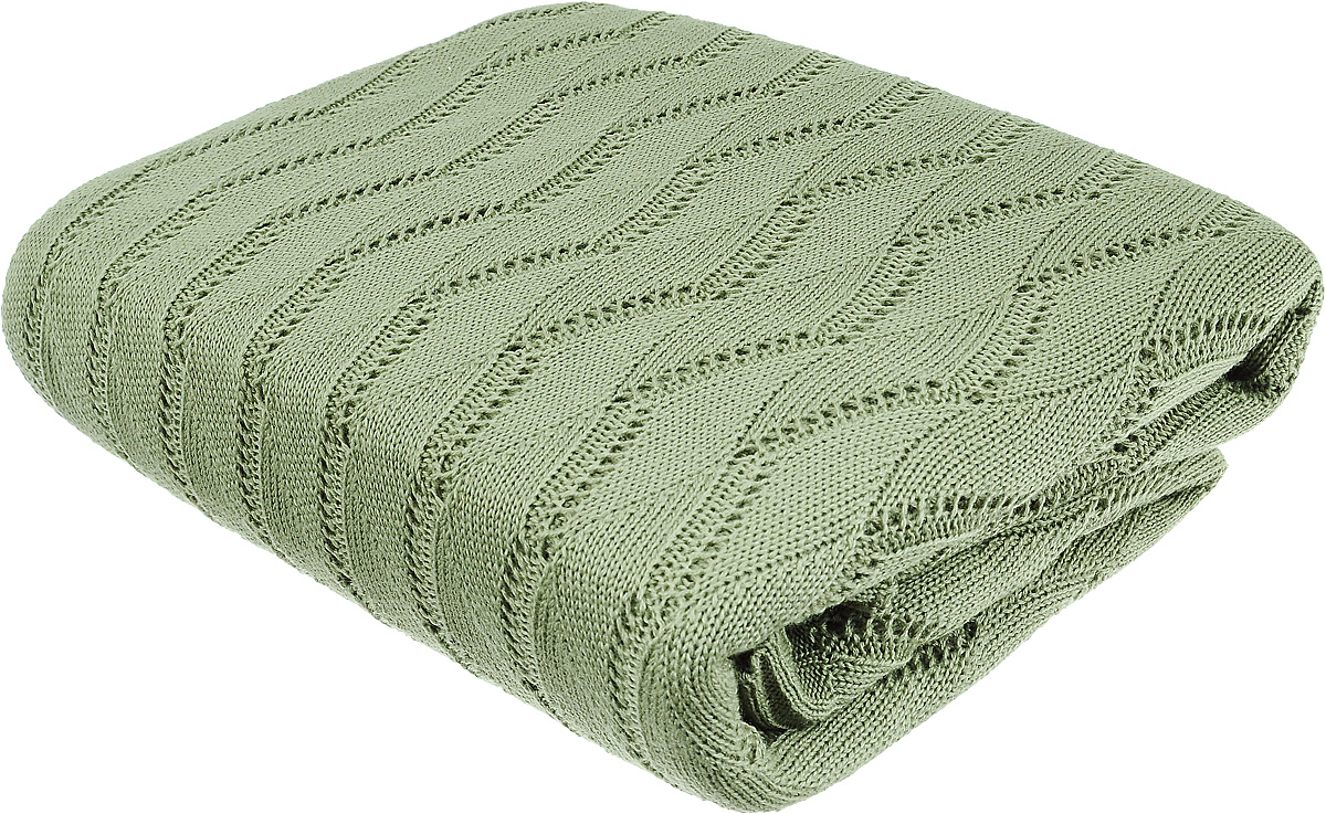 Плед Tiffanys Secret Ажур, цвет: зеленый чай латте, 140 х 180 см192868Вязаный плед Tiffanys Secret Ажур послужит теплым, мягким и практичным подарком близким людям. Плед, изготовленный из 30% шерсти и 70% акрила, мягкий, приятный на ощупь, обладает низкой теплопроводностью. Изделие весь срок использования сохраняет размер и достойный вид.Оригинальный и приятный на ощупь плед Tiffanys Secret Ажур непременно займет достойное место в вашем доме.