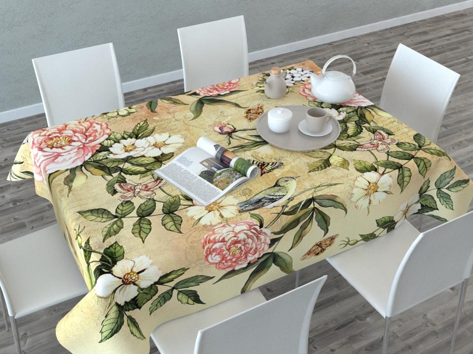 Скатерть Сирень Винтажные цветы, прямоугольная, 145 x 120 см00756-СК-ГБ-003Прямоугольная скатерть Сирень Винтажные цветы с ярким и объемным рисунком, выполненная из габардина, преобразит вашу кухню, визуально расширит пространство, создаст атмосферу радости и комфорта. Рекомендации по уходу: стирка при 30 градусах, гладить при температуре до 110 градусов.Изображение может немного отличаться от реального.