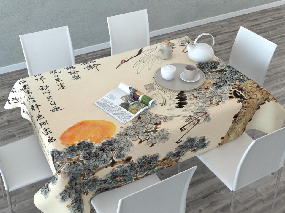 Скатерть Сирень Японская фреска, прямоугольная, 145 x 120 см54094Скатерть Сирень с ярким и объемным рисунком преобразит вашу кухню, визуально расширит пространство, создаст атмосферу радости и комфорта. Рекомендации по уходу: стирка при 30 градусах гладить при температуре до 110 градусовИзображение может немного отличаться от реального.