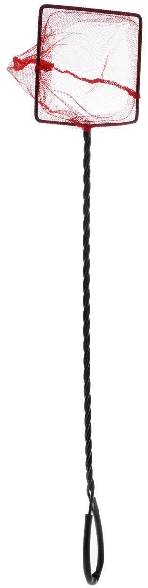 Сачок аквариумный Barbus, с инфракрасной сеткой, с удлиненной ручкой, 12,5 х 10 см0120710Сачок Barbus предназначен для легкого извлечения рыб или остатков корма из аквариума. Изделие выполнено из металла со специальным пластиковым покрытием и оснащено удлиненной ручкой с петлей для подвешивания. Инфракрасная сетка из нейлона позволяет без труда поймать рыбу в сачок, так как основная их масса не воспринимает красный цвет. Такой сачок безопасен для рыб, устойчив к коррозии и долговечен.Размер сачка: 12,5 х 10 см. Длина ручки: 45 см.