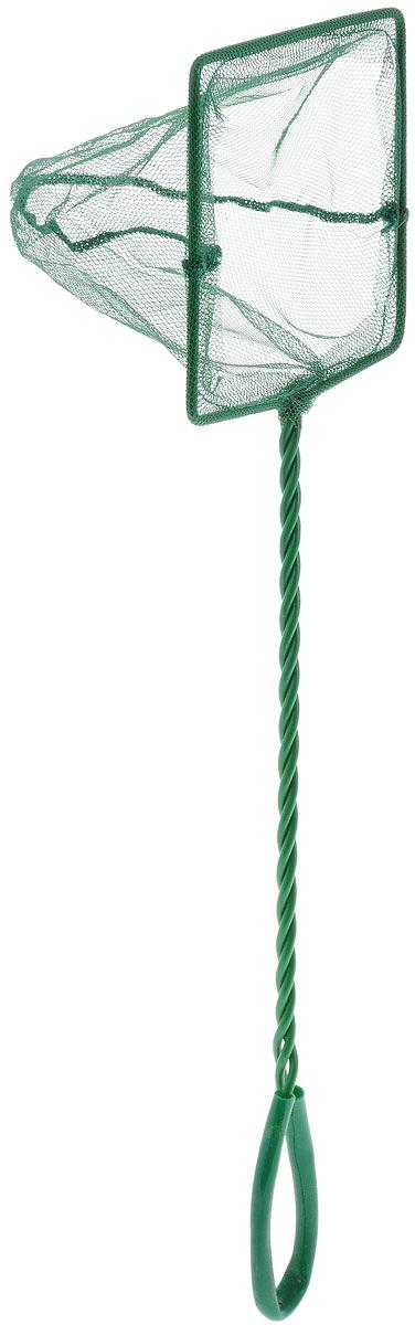 Сачок аквариумный Barbus, 12,5 х 10 см0120710Сачок Barbus предназначен для легкого извлечения рыб или остатков корма из аквариума. Изделие выполнено из металла со специальным пластиковым покрытием. Такой сачок безопасен для рыб, устойчив к коррозии и долговечен. Сетка выполнена из прочного нейлона. На ручке имеется петля для подвешивания. Размер сачка: 12,5 х 10 см. Длина ручки: 30 см.