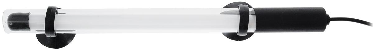 Лампа аквариумная Barbus, энергосберегающая, цвет: голубой, длина 25 см, 4W0120710Энергосберегающая лампа Barbus идеально подходит для создания современного аквариумного дизайна. Погружается до глубины 70 см. Свечение лампы специально разработан для интенсивности окраски рыб и стимуляции роста растений. Лампа водонепроницаема. Крепится с помощью двух присосок. Работает от электросети. Цвет лампы: голубой. Длина лампы: 25 см.