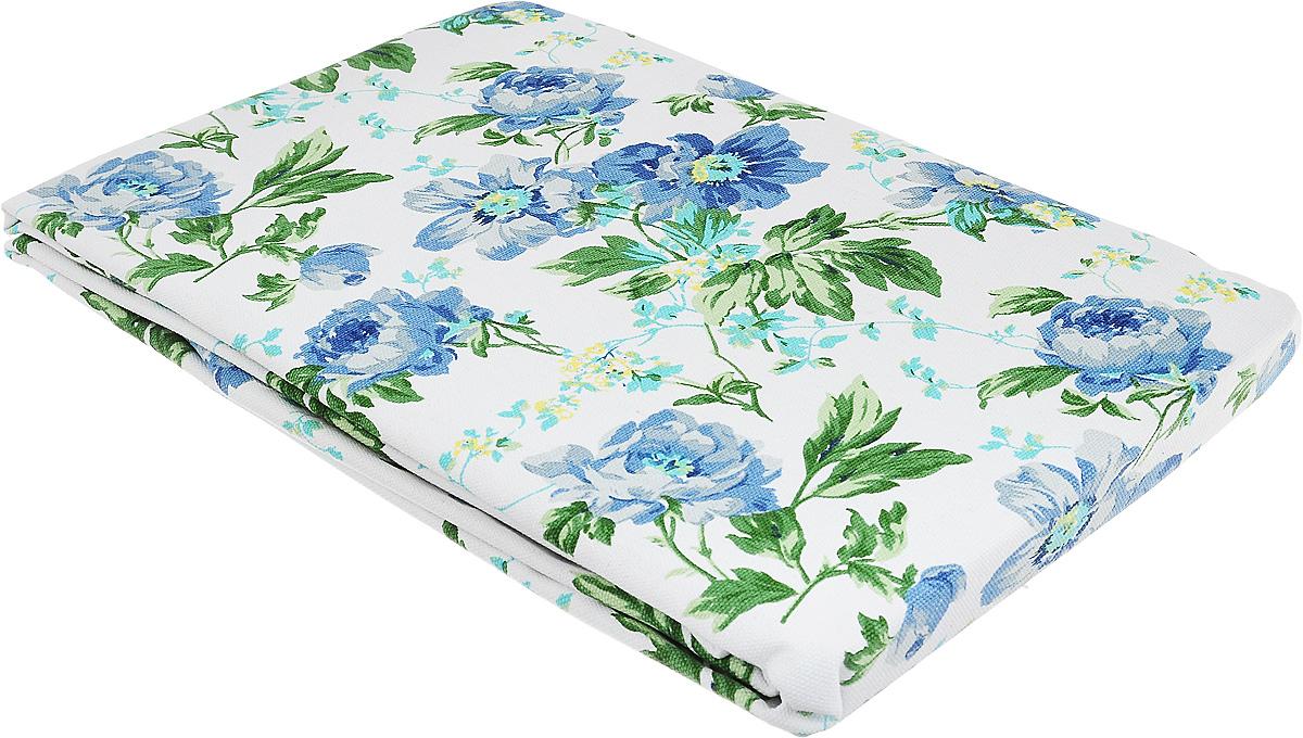 Скатерть Bonita, цвет: синий, зеленый, белый, 145 х 180 см. 1101210121VT-1520(SR)Великолепная скатерть Bonita, изготовленная из натурального хлопка, создаст атмосферу уюта и домашнего тепла в интерьере вашей кухни. Скатерть органично впишется в интерьер любого помещения, а оригинальный мотив удовлетворит даже самый изысканный вкус.В современном мире кухня - это не просто помещение для приготовления и приема пищи. Это особое место, где собирается вся семья и царит душевная атмосфера.