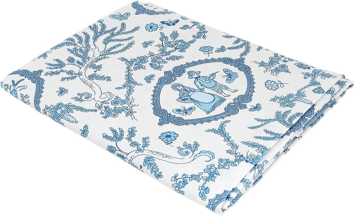 Скатерть Bonita Жуи, цвет: голубой, синий, белый, 125 х 150 смVT-1520(SR)Великолепная скатерть Bonita Жуи, изготовленная из натурального хлопка, создаст атмосферу уюта и домашнего тепла в интерьере вашей кухни. Скатерть органично впишется в интерьер любого помещения, а оригинальный мотив удовлетворит даже самый изысканный вкус.В современном мире кухня - это не просто помещение для приготовления и приема пищи. Это особое место, где собирается вся семья и царит душевная атмосфера.