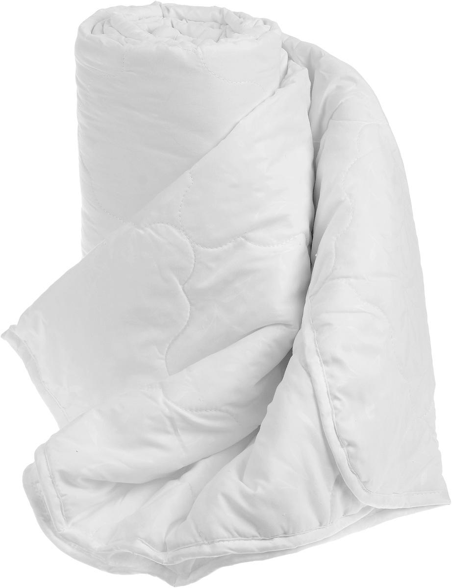 Одеяло Sova & Javoronok, облегченное, наполнитель: бамбук, цвет: белый, 172 х 205 см531-103Одеяло Sova & Javoronok Бамбук подарит комфорт и уют во время сна. Чехол, выполненный из микрофибры (100% полиэстера), оформлен стежкой и надежно удерживает наполнитель внутри. Волокно на основе бамбука - инновационный наполнитель, обладающий за счет своей пористой структуры хорошей воздухонепроницаемостью и высокой гигроскопичностью, обеспечивает оптимальный уровень влажности во время сна и создает чувство прохлады в жаркие дни.Антибактериальный эффект наполнителя достигается за счет содержания в нем специального компонента, а также за счет поглощения влаги, что создает сухой микроклимат, препятствующий росту бактерий. Основные свойства волокна: - хорошая терморегуляция, - свободная циркуляция воздуха, - антибактериальные свойства, - повышенная гигроскопичность, - мягкость и легкость, - удобство в эксплуатации и легкость стирки. Рекомендации по уходу: - Стирка запрещена. - Не отбеливать, не использовать хлоросодержащие моющие средства и стиральные порошки с отбеливателями.- Не выжимать в стиральной машине.- Чистка только с углеводородом, хлорным этиленом и монофтортрихлорметаном.