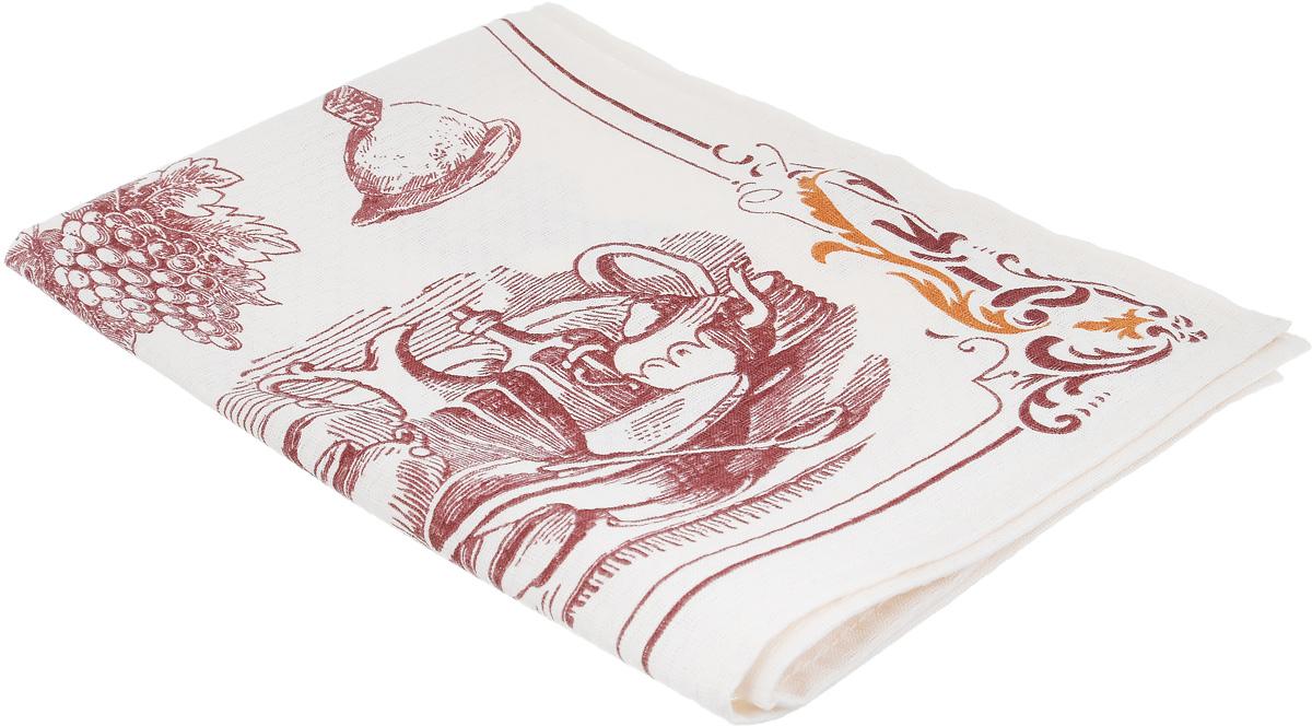 Полотенце Bonita Бордо. Боннет, цвет: слоновая кость, бордовый, коричневый, 44 х 59 смVT-1520(SR)Кухонное полотенце Bonita Бордо. Боннет изготовлено из 100% хлопка, поэтому является экологически чистыми. Качество материала гарантирует безопасность не только взрослых, но и самых маленьких членов семьи. Изделие украшено оригинальным рисунком, оно впишется в интерьер любой кухни. Такое полотенце станет прекрасным помощником у вас на кухне.