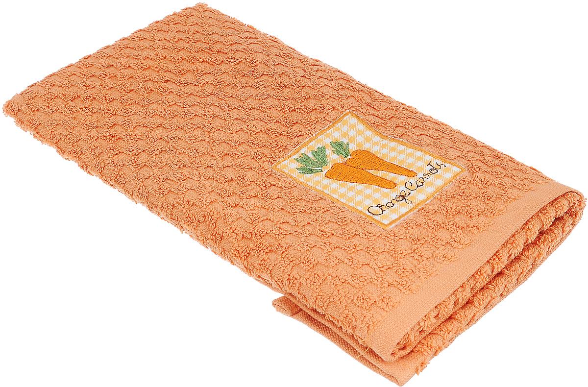 Полотенце кухонное Bonita, цвет: оранжевый, 40 х 60 смVT-1520(SR)Кухонное полотенце Bonita изготовлено из 100% хлопка, поэтому является экологически чистыми. Качество материала гарантирует безопасность не только взрослых, но и самых маленьких членов семьи. Изделие украшено оригинальным рисунком, оно впишется в интерьер любой кухни. Такое полотенце станет прекрасным помощником у вас на кухне.