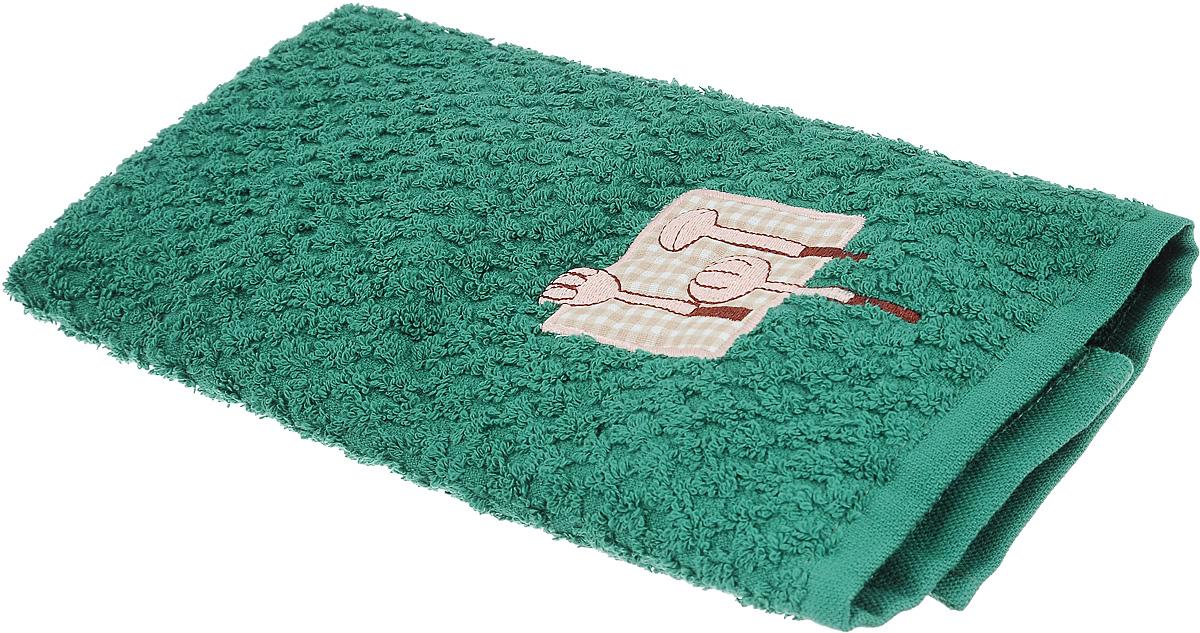 Полотенце кухонное Bonita, цвет: темно-зеленый, 40 х 60 смVT-1520(SR)Кухонное полотенце Bonita изготовлено из 100% хлопка, поэтому является экологически чистыми. Качество материала гарантирует безопасность не только взрослых, но и самых маленьких членов семьи. Изделие украшено оригинальным рисунком, оно впишется в интерьер любой кухни. Такое полотенце станет прекрасным помощником у вас на кухне.