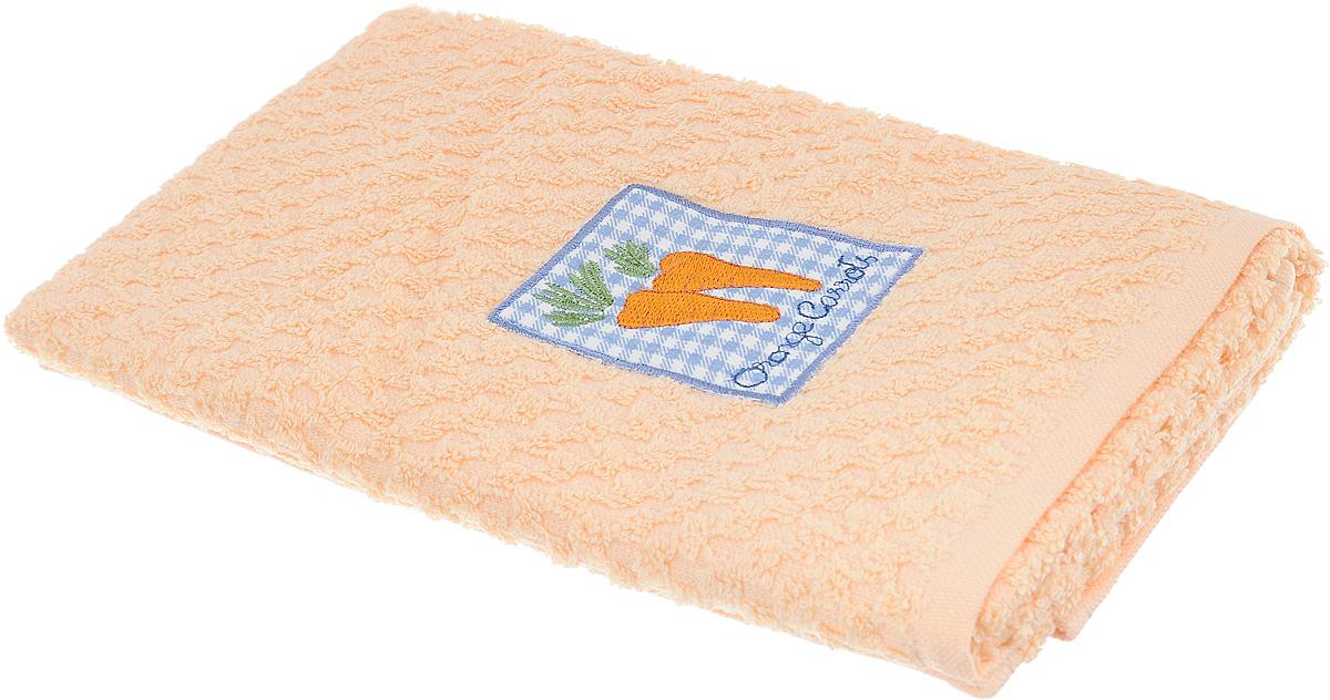 Полотенце кухонное Bonita, цвет: персиковый, 40 х 60 смVT-1520(SR)Кухонное полотенце Bonita изготовлено из 100% хлопка, поэтому является экологически чистыми. Качество материала гарантирует безопасность не только взрослых, но и самых маленьких членов семьи. Изделие украшено оригинальным рисунком, оно впишется в интерьер любой кухни. Такое полотенце станет прекрасным помощником у вас на кухне.