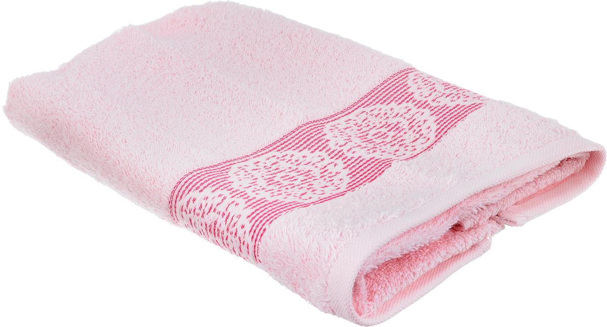 Полотенце Arya Mia, цвет: розовый, 50 х 90 см68/5/3Полотенце Arya Mia выполнено из 100% хлопка. Полотенце украшено рисунком на бордюре, которое придает ему неповторимый вид. Изделие отлично впитывает влагу, быстро сохнет, сохраняет яркость цвета и не теряет форму даже после многократных стирок. Такое полотенце очень практично и неприхотливо в уходе. Оно создаст прекрасное настроение и украсит интерьер в ванной комнате.