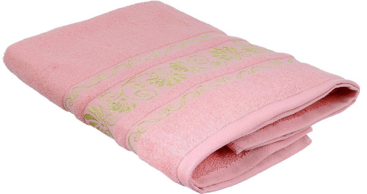 Полотенце Bonita Розовый фламинго, цвет: розовый, 70 х 140 см80663Полотенце Bonita Розовый фламинго изготовлено из мягкой смесовой ткани (30% хлопок и 70% бамбук) и оформлено рисунком с узорами. Полотенце идеально впитывает влагу и сохраняет свою необычайную мягкость даже после многих стирок. Полотенце Bonita - отличный вариант для практичной и современной хозяйки.С ним ваш дом наполнится красотой и только прекрасными эмоциями.