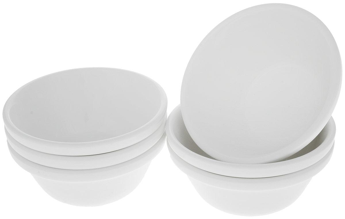 Набор салатников Wilmax, диаметр 11,5 см, 6 шт54 009312Набор Wilmax состоит из 6 небольших круглых салатников, выполненных из высококачественного фарфора. Глазурованное покрытие обеспечивает легкую очистку. Белизна и прочность материала достигаются благодаря добавлению в состав фарфора магния и алюминия, а гладкость и роскошный блеск - результат особой рецептуры глазури. Изделия обладают низкой водопоглощаемостью, высокой термостойкостью, а также экологичностью и долговечностью. Салатники отлично подходят для сервировки закусок, соусов, салатов. Легко штабелируются, что позволяет складывать салатники друг в друга и экономить место при хранении. Они практичны, функциональны и имеют лаконичный классический дизайн. Такой набор салатников станет отличным приобретением для вашей кухни. Можно мыть в посудомоечной машине и использовать в микроволновой печи. Диаметр салатника (по верхнему краю): 11,5 см. Высота салатника: 5 см.